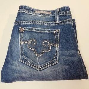8R Rerock By Express Demin Jeans Bootcut Blue